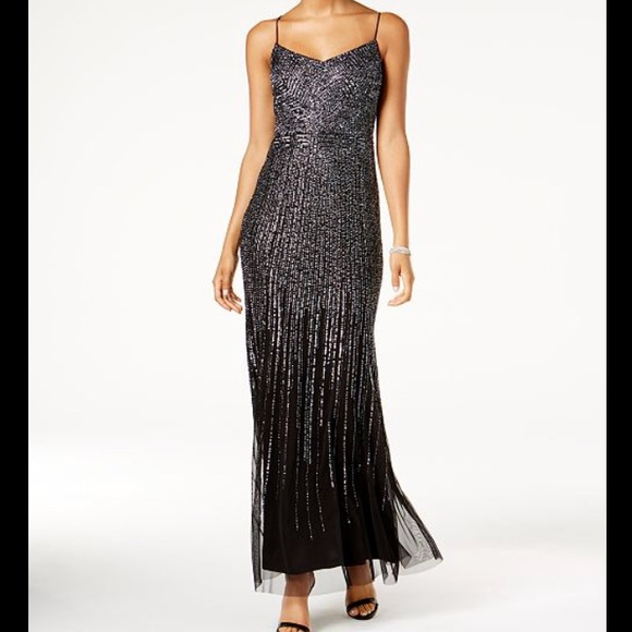 Adrianna Papell Dresses | Beaded Mermaid Gown Size 4 Nwt | Poshmark